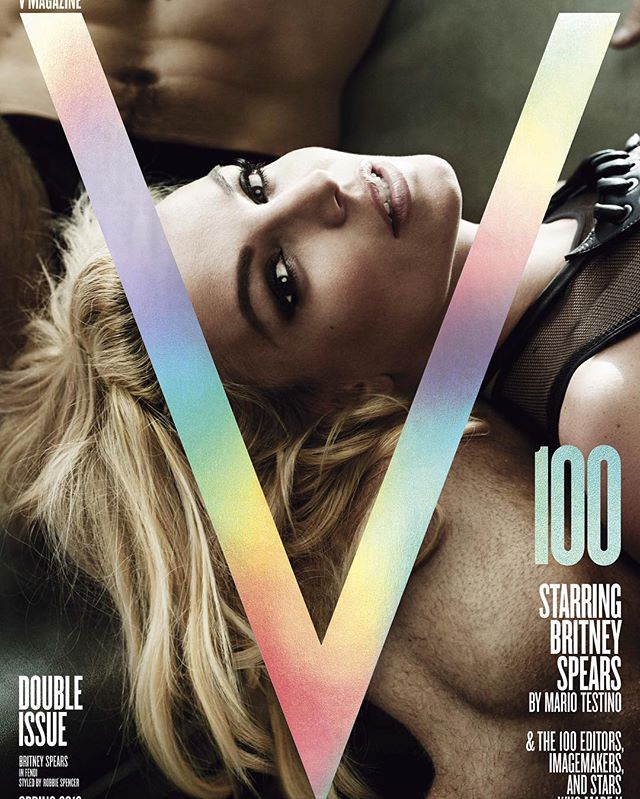 Britney Spears cover majalah V